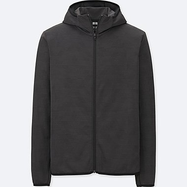 Dry-Ex Long Sleeve Full-Zip Hoodie, BLACK, medium