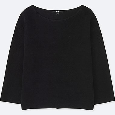 WOMEN Ripple Crew Neck Sweater