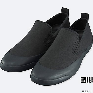 MEN U CANVAS SLIP-ON, BLACK, medium