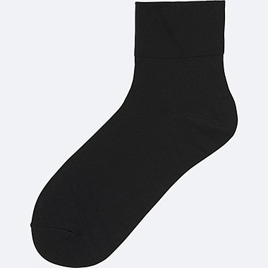 WOMEN SOCKS (TAPER), BLACK, medium