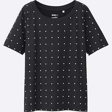 women sprz ny super geometric graphic t-shirt (francois morellet)