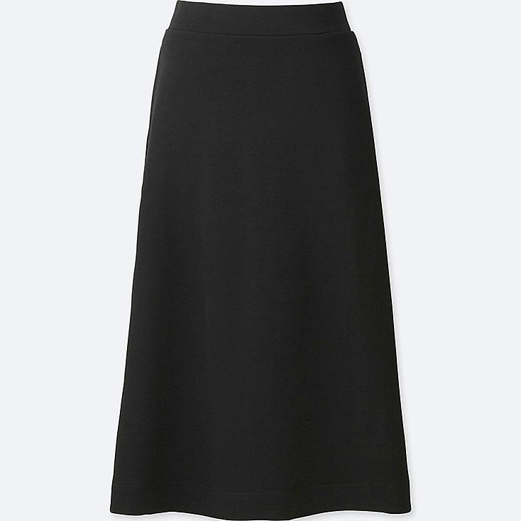 WOMEN Milano Ribbed Cut Sewn Midi Skirt