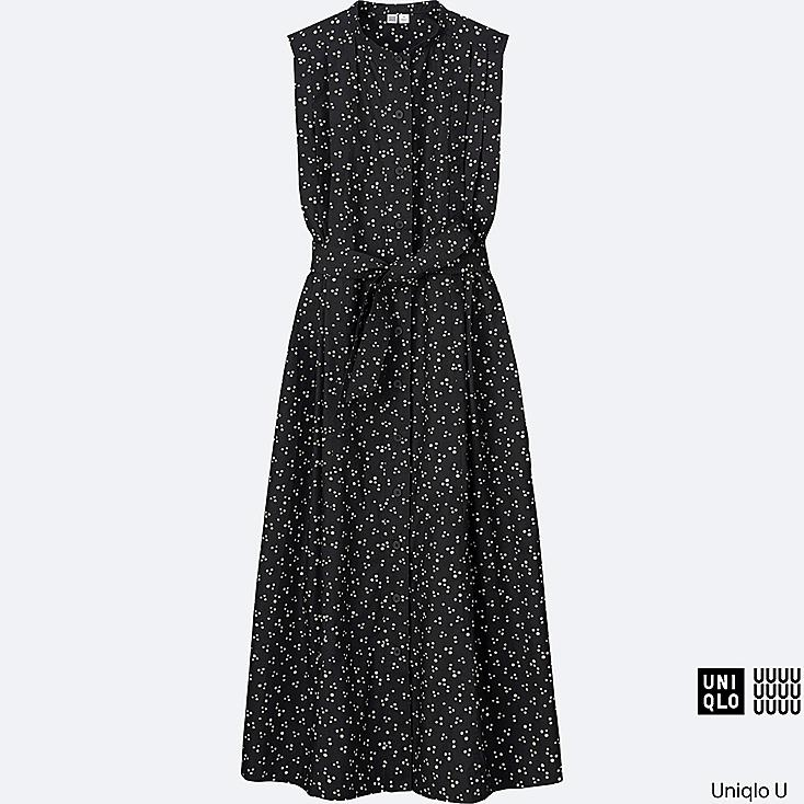 WOMEN Uniqlo U Cotton Printed Sleeveless Long Dress