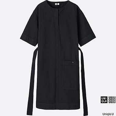 WOMEN Uniqlo U Denim Short Sleeve Sack Dress