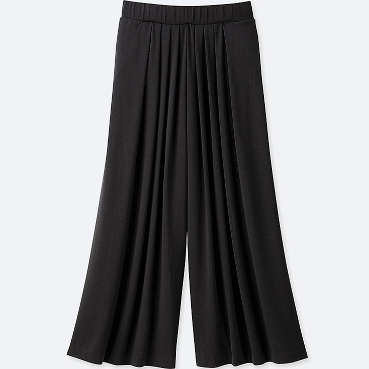 WOMEN Tuck Flare Wide Pants