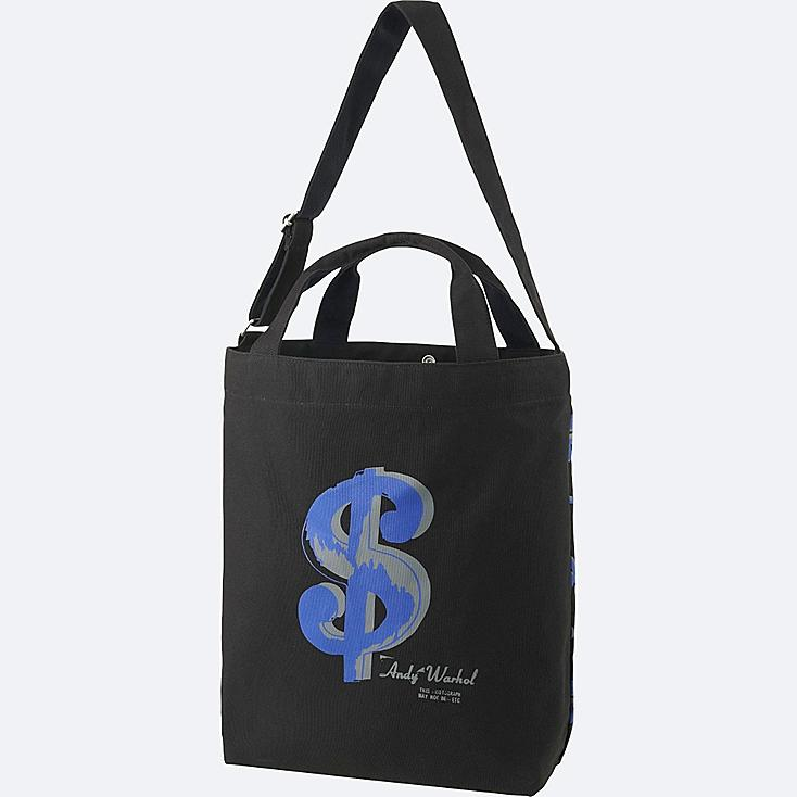 SPRZ NY TOTE BAG (ANDY WARHOL), BLACK, large