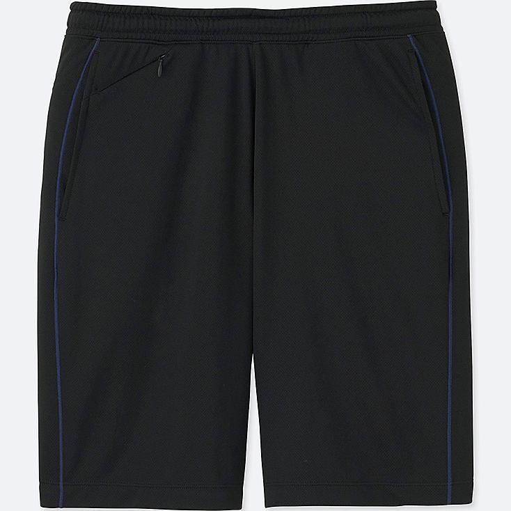 MEN DRY-EX MESH SHORTS, BLACK, large