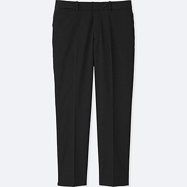 WOMEN DRY STRETCH CROPPED PANTS, BLACK, medium
