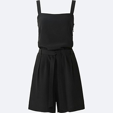 Women Romper, BLACK, medium
