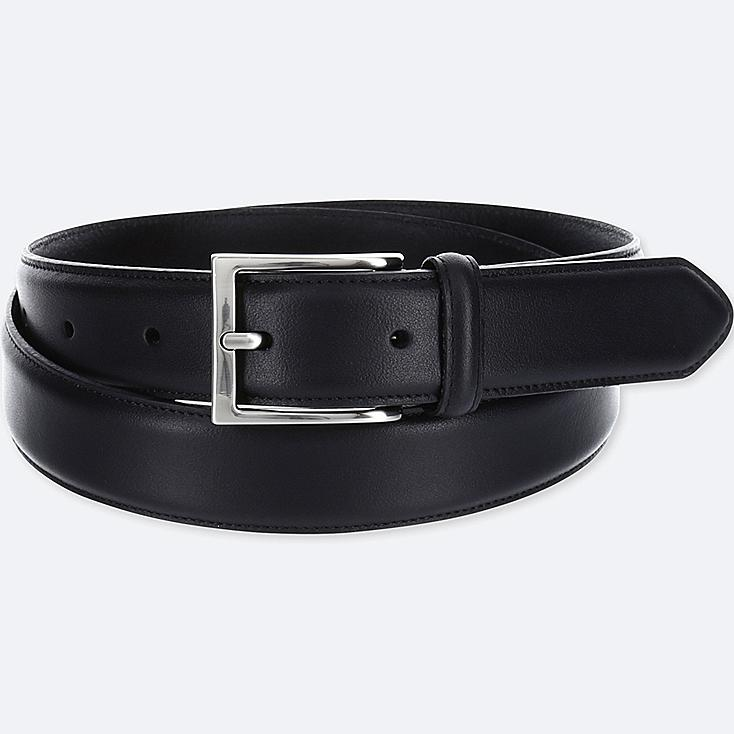 MEN ITALIAN LEATHER STITCHED BELT