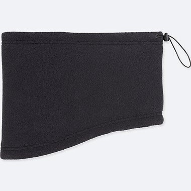 HEATTECH FLEECE NECK WARMER, BLACK, medium