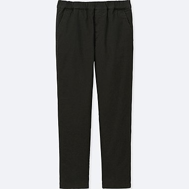 KIDS WARM-LINED PANTS, BLACK, medium