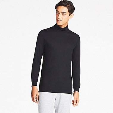 MEN HEATTECH LONG-SLEEVE TURTLENECK, BLACK, medium