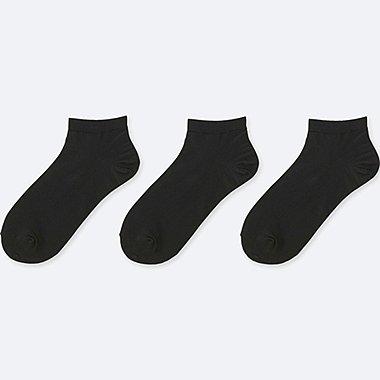WOMEN SHORT SOCKS (3 PAIRS), BLACK, medium