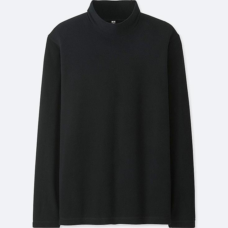 Men heattech fleece mock neck long sleeve t shirt uniqlo us for Mock long sleeve t shirts