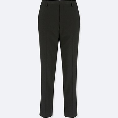 WOMEN SMART STYLE ANKLE-LENGTH PANTS, BLACK, medium
