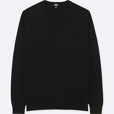 MEN EXTRA FINE MERINO V NECK JUMPER