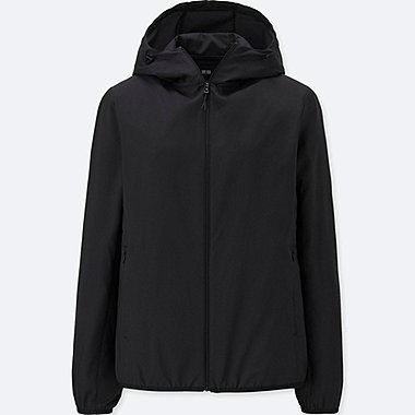 WOMEN POCKETABLE PARKA, BLACK, medium