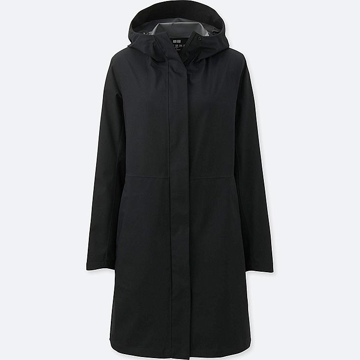 WOMEN BLOCKTECH COAT, BLACK, large