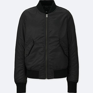 WOMEN MA-1 BOMBER, BLACK, medium