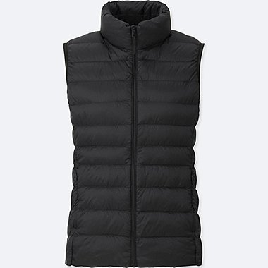 Women Ultra Light Down Vest, BLACK, medium