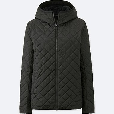 WOMEN PILE-LINED FLEECE PARKA, BLACK, medium