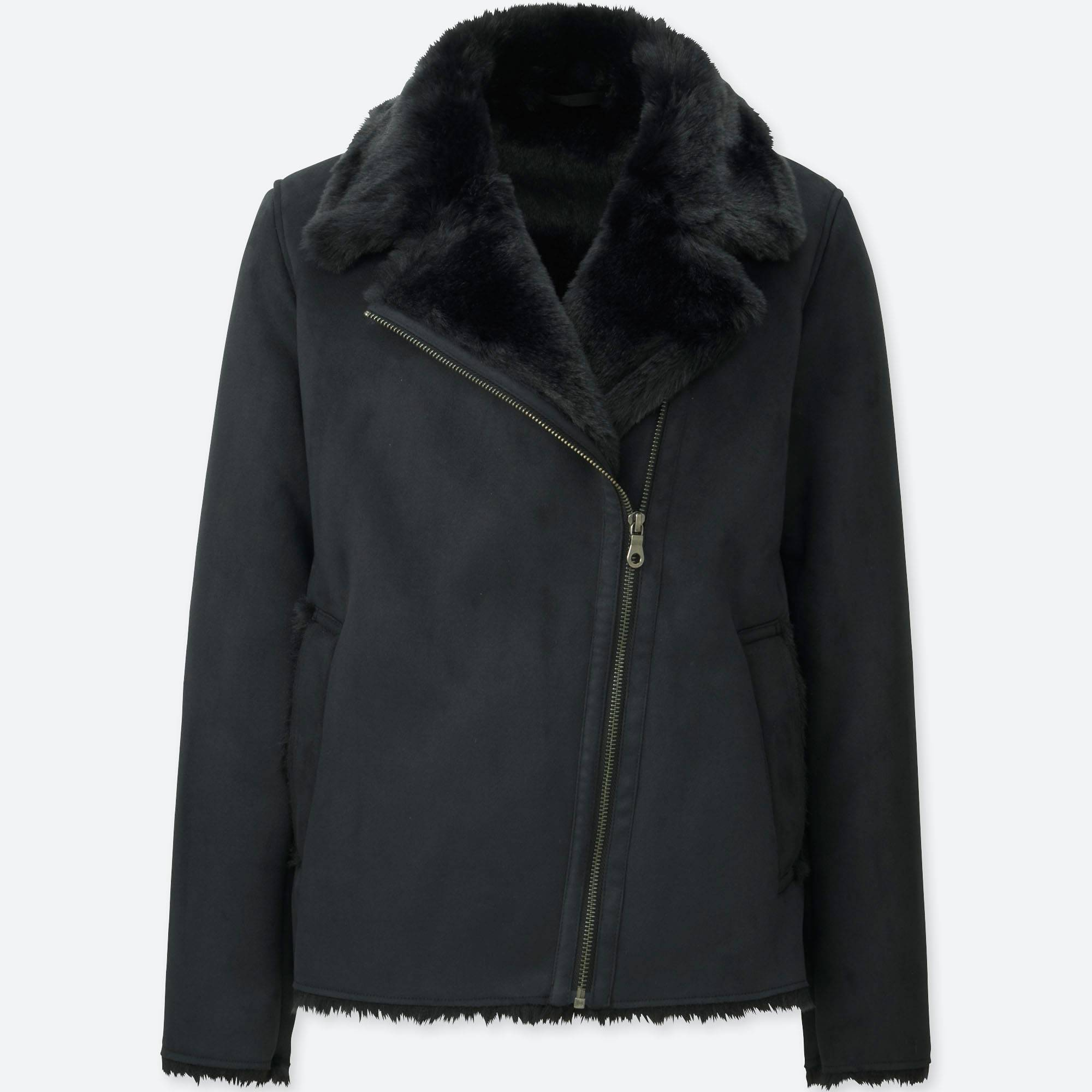 WOMEN FAUX SHEARLING JACKET | UNIQLO US