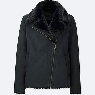 WOMEN FAUX SHEARLING JACKET