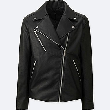 WOMEN RIDERS JACKET, BLACK, medium