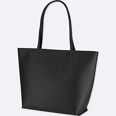 WOMEN FAUX LEATHER TOTE BAG