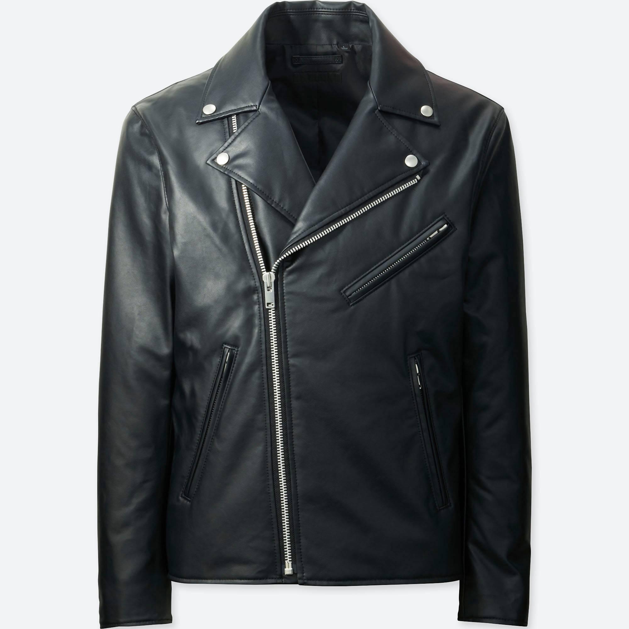 Vegan leather jacket men