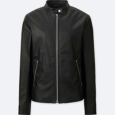 WOMEN RIDERS SINGLE JACKET, BLACK, medium