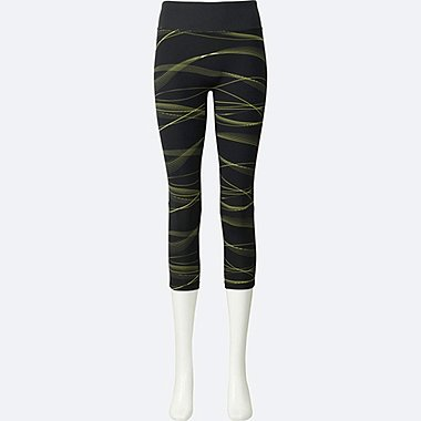 WOMEN AIRism Printed Cropped Leggings