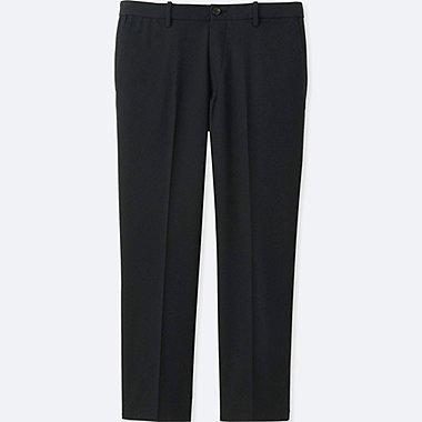 MEN RELAXED ANKLE PANTS (COTTON), BLACK, medium