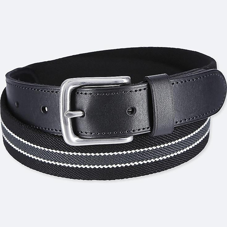 MEN STRETCH TAPE BELT, BLACK, large
