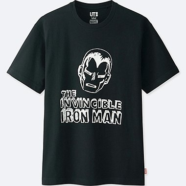 MEN MARVEL COLLECTION SHORT-SLEEVE GRAPHIC T-SHIRT, BLACK, medium
