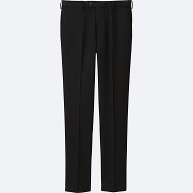 MEN HEATTECH STRETCH SLIM FIT FLAT FRONT TROUSERS