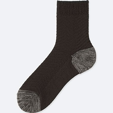 MEN HEATTECH HERRINGBONE HALF SOCKS