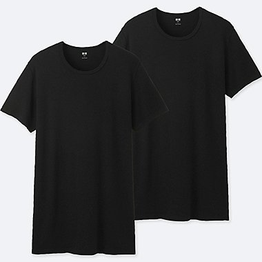 MEN SUPIMA COTTON CREW NECK SHORT SLEEVED T-SHIRT (TWO PACK)