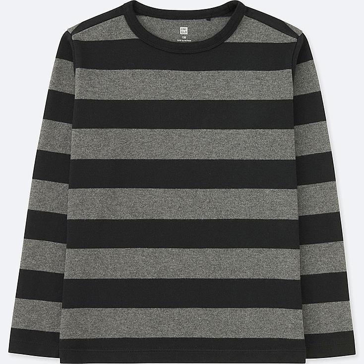 NIÑOS Camiseta manga larga cuello redondo rallas