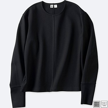 WOMEN UNIQLO U CREW NECK LONG SLEEVE T-SHIRT