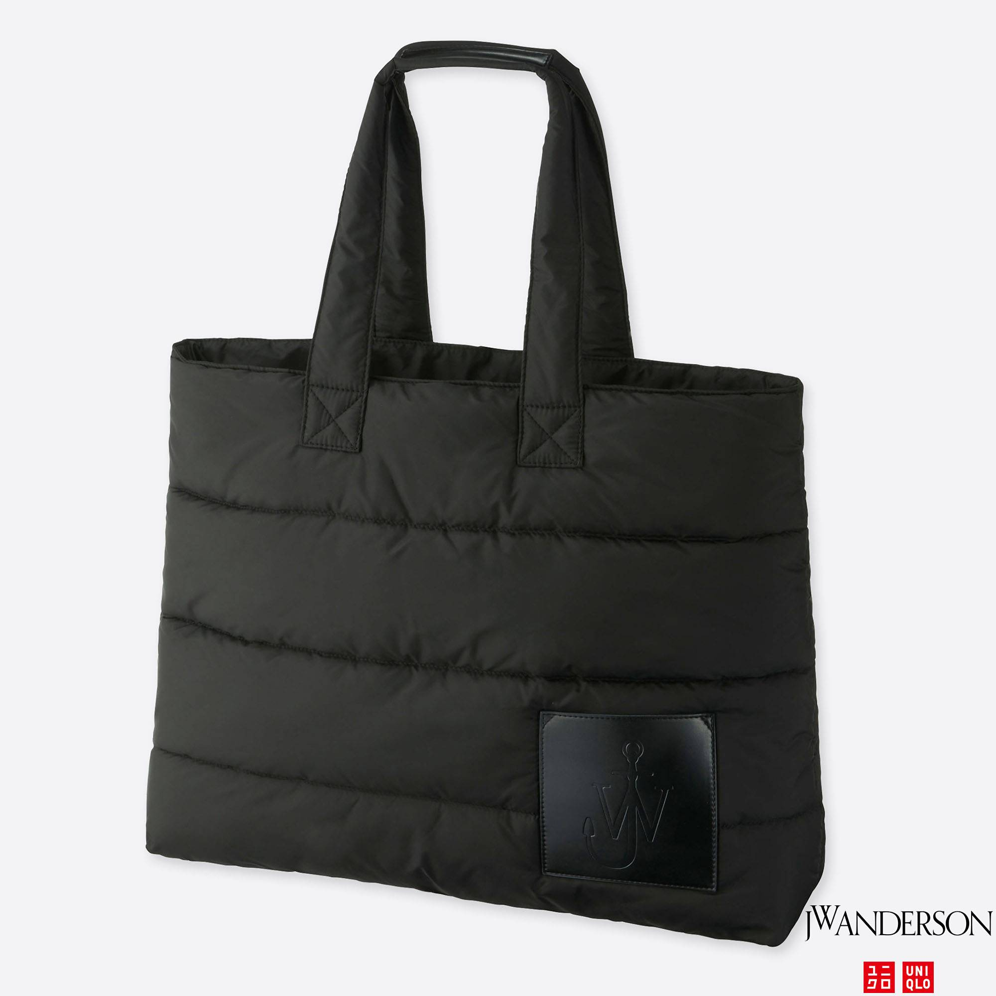 J W Anderson Padded Tote Bag Black Large