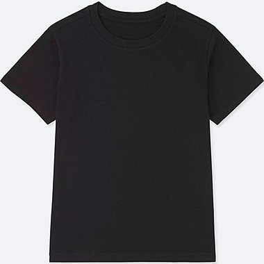 KIDS PACKAGED COLOR CREW NECK SHORT-SLEEVE T-SHIRT, BLACK, medium