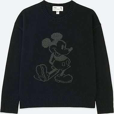 WOMEN MICKEY STANDS GRAPHIC CREW NECK SWEATER