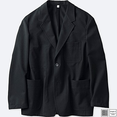 MEN U WOOL-BLEND JACKET, BLACK, medium