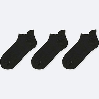 WOMEN SPORT SHORT SOCKS (3 PAIRS), BLACK, medium