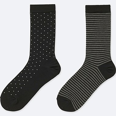 WOMEN HEATTECH SOCKS (2 PAIRS) (DOT)