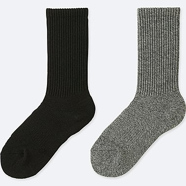 WOMEN SPORT HEATTECH SOCKS (2 PAIRS), BLACK, medium