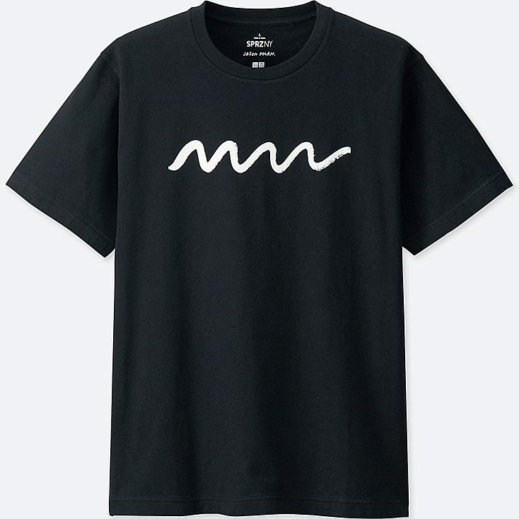 MEN SPRZ NY Short Sleeve Graphic T-Shirt (JASON POLAN), BLACK, large
