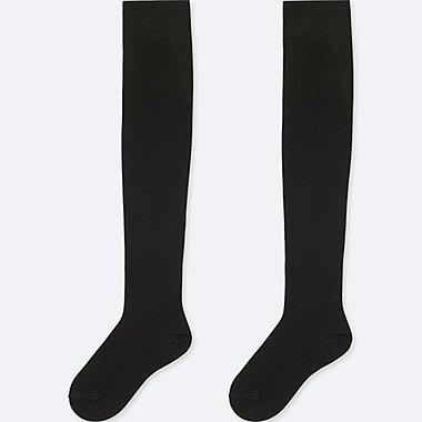 WOMEN HEATTECH OVER-THE-KNEE SOCKS (2 PAIRS), BLACK, medium